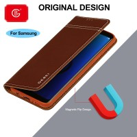 Luxury Genuine Leather Wallet Case For Samsung Galaxy S7 Edge S10