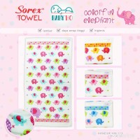 Sorex - Handuk Anak 120 x 60 cm Colorful Elephant