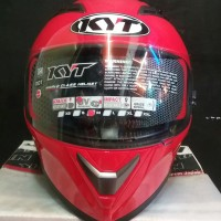 HELM FULL FACE KYT FALCON 2 SOLID FIRE RED