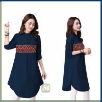 Harga blouse wanita adra blouse motif batik etnik atasan wanita baju | antitipu.com