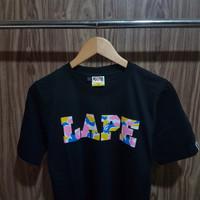 c8d40fe3f kaos tshirt bape a bathing ape lapw hitam premium katun lembut