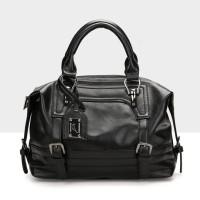 tas jinjing warna hitam kulit lentur wanita uk sedang kantoran meeting