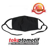 Masker Kain Tali / Masker Hitam Polos / Masker Kendaraan Berkualitas