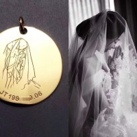 Tiaria Bride Pendant Liontin Perhiasan Emas 24K Free Engrave 5 gram