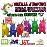 [PREMIUM] Mainan Kuda Tunggang Unicorn Animal Jumping Musik Lampu SNI