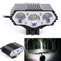 Lampu stang handlebar depan sepeda usb bike front light senter power b