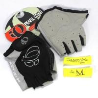 Sarung Tangan Size M Sepeda Pearl Izumi Half Finger Gloves Hitam Abu