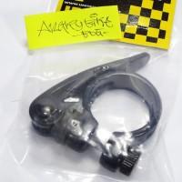 Seatclamp seat clamp sepeda ukuran frame 28.6 hitam UNTUK TIANG SADEL