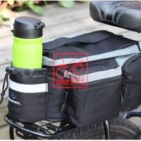 tas rak touring belakang pannier sepeda hitam roswheel
