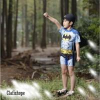 Baju Renang/Diving/Jumsuit Anak Laki laki Kalelawar Cape + Topi