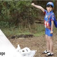 Baju Renang/Swimsuit/Diving Jumsuit Anak Laki-laki Topi Kapten Biru