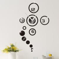 Stiker Jam Dinding DIY Decal Vinyl Wall Art Sticker Rumah - KHM329