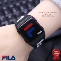 Jam Tangan Wanita Fila HC-613 + Box Ekslusive + Batre Cadangan - FULL HITAM