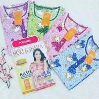 Pecah Harga (Grosir 4) Baju Tidur Wanita Katun Celana 3/4 Hoki Sheila