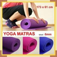 PROMO JE Matras Yoga Premium PVC Tebal 6mm IMPORT Alas Yoga Matt Anti