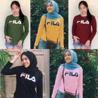 Atasan T-Shirt Kaos Baju Cewek Wanita Murah Tumblr Tee Fila