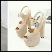 Hot Product Ready Stock Heels Import Black And Cream Size 36 37 38 39