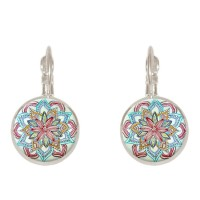 New Bohemian Vintage Ear Drop Copper Colorful Anting