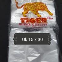 """Kresek-Kantong Plastik HDPE bening merk """"TIGER"""" 150 gram"""