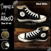 Sepatu Compass id High Alecio Black White 37-43