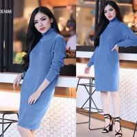 Dress dian pelangi Baju Atasan Wanita Sweater Long Dress Pesta Midi