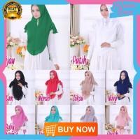 HS61 Hijab Khimar Hanum Swarovski/Jilbab Syari/Kerudung Cantik dan