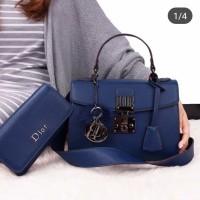 Tas Diorr Addict purses calfskin leather semi ori HC8077 CUCI GUDANG