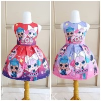 BAJUKIDDIE LOL BUBBLE DRESS . gaun pesta anak perempuan mainan boneka