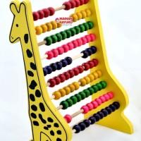 Mainan Edukasi Anak Sempoa Jerapah