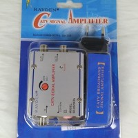 Penguat Sinyal TV Signal Booster/CATV Amplifier+2 Splitter Raiden