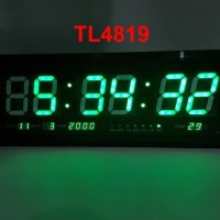 Jam Dinding Digital Led besar TL 4819 cahaya HIJAU