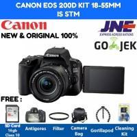 Canon EOS 200D Kit 18-55mm IS STM Paket Super Lengkap