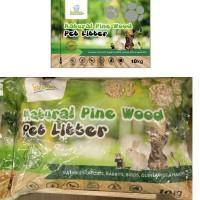 NATURAL PINE WOOD PET LITTER (cat,rabbit,guineapig,hamster,bird)10kg