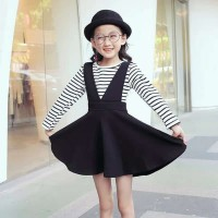 dress casual strip anak/dress import/gaun anak