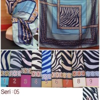 Jilbab Segi Empat Satin Motif Silk Vienna - seri : 05