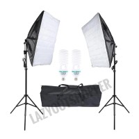 Paket studio lighting 2 softbox dan 2 light stand
