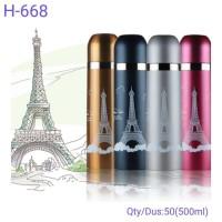 Termos Motif PARIS 500ml Stainless Steel Karakter Botol Air Minum Unik