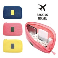Cable Travel Pouch Multifungsi Dompet Kabel Charger Hp tas organizer B