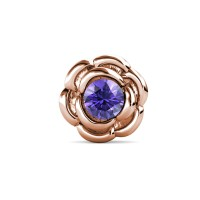 Petunia Brooch Rose Gold - Bros Crystals Swarovski by Her Jewellery