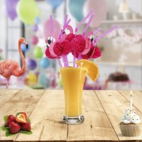 Sedotan Minuman Desain Flamingo Untuk Pesta Pernikahan - HKN310
