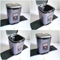 Tempat Sampah Mobil 2 Liter Tatakan Karet Car Trash Bin Wadah Sampah I