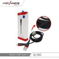 Advance Q10 C - Kabel Premium Type C Fast Charging 130 cm - Hitam