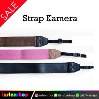 Strap Camera PU Leather / Tali Kamera DSLR / Mirorrless - Maroon