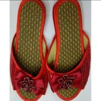 Sandal Merah Pengantin Wanita Lamaran Sang Jit