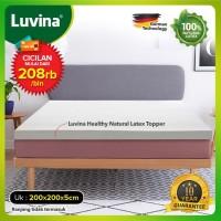 Luvina Kasur / Topper Kesehatan Natural Latex - Ukuran 200x200x5cm