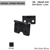Engsel Stand Pigura kecil 2 mata jepit / press