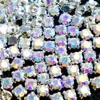 Crystal Payet Jahit Austria Cangkang 6mm - AB Kristal