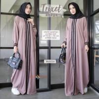 gamis baju busana muslimah longdress abaya kafta trixie ori rissaditya