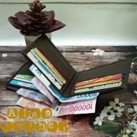 dompet pria 3D asli kulit garut