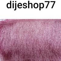 Harga renda rumbai panjang 15 cm rumbai dusty pink 15cm etnik baju   antitipu.com